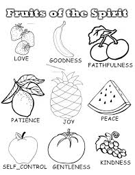 Popular Fruit Of The Spirit Goodness Coloring Page Fruits Colouring