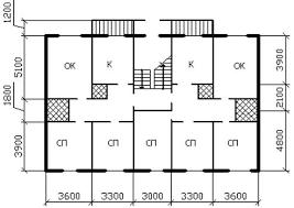Курсовая работа Двухэтажный жилой дом в городе Калуга  План здания схема №23