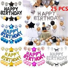 Happy First Birthday Balloons Set 1 Year Old Baby Boy Girl Party Decor