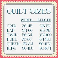 Baby Quilts Charts Quilt Size Chart From Sassy Quilter Go
