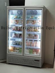 glass doors upright freezer