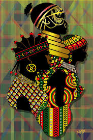 africa painting african women by james mingo