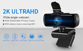 HD 2K Webcam with Microphone and Privacy Cover ... - Amazon.com