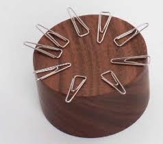 Magnetic Paperclip Holder Wood Magnetic Paper Clip Holder Feelgift