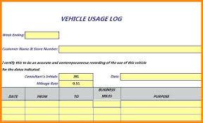 Free Excel Mileage Log Reimbursement Excel Mileage Log Template A Form Expenses Uk