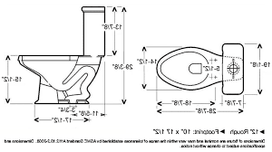 Toilet Bowl Dimensions Water Tank Sizes Portrait Elongated Round Toilet Dimensions
