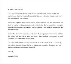 High School Recommendation Letter For Student Image Result For Sample Letter Of Recommendation For Student