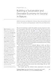 building a sustainable and desirable economy in society in nature inside