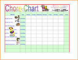 Toddler Chore Chart Template 50 Children Chore Chart Template Culturatti