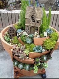 Small Picture Cactus planter Love this Take a broken pot and add levels A