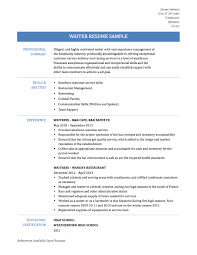Best Waiter Resume Sample Free Ideas Best Resume Examples For