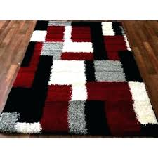 modern grey area rug black red black and white rug 2018 5 7 area