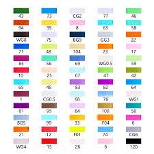 Ohuhu Color Chart Ohuhu 60 Colors Dual Tips Alcohol Art Markers Fine Chisel