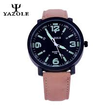 high quality whole watch luminous dial from watch yazole band men wristwatch luminous dial watch large numbers watches male luxury quartz wrist watch relogio