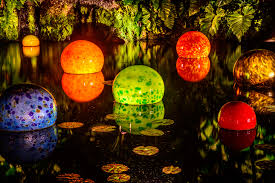 tropical chihuly nights at fairchild tropical garden