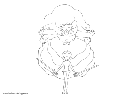Steven Universe Coloring Pages Rose N Pearl Lineart By Xxatrozxx