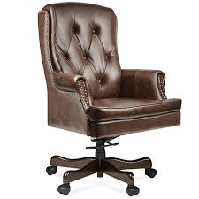 halter hal 070 executive grain cow leather office chair home office computer desk ceo chair metal base w wood caps supports 500lbs best