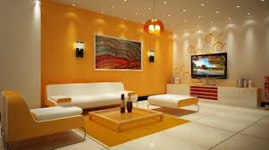 Warm Colors For Living Room Walls Living Room Warm Modern Decor Orange Painting Nice Black Wall