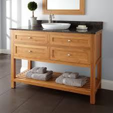 Bamboo Bathroom Cabinets 48 Thayer Bamboo Vanity For Semi Recessed Sink Bathroom
