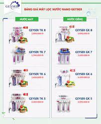 1️⃣ Bảng Giá, Khuyến Mãi Máy Lọc Nước Nano Geyser 【2021】