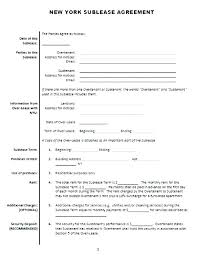 Sublease Form Subtenant Agreement Template Sublease Form Sublet Sample Car