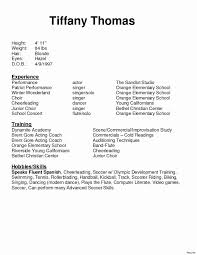 Entertainment Resume Template Free Awesome Child Actor Resume