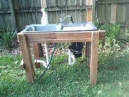 old kitchen sink sawhorses outdoor sink home garden
