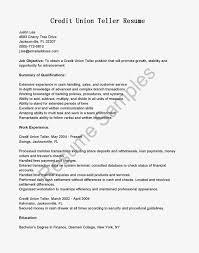 Resume For Bank Teller With Teller Job Description For Resume And