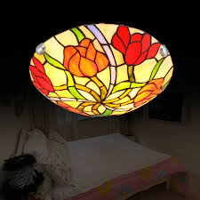 stained glass flush mount ceiling light simple ceiling fans with lights drop ceiling lighting