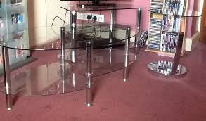 glass coffee table tv stand and matching side tables 2