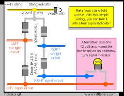 extra signal indicators for valkyries LED Light Fixture Wiring Diagram quickly for the expert isolating the front running light circuits with diodes, tie them onto the stand light so they act as ground when the signals are on