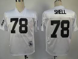 Raiders 78 White And Cheapest Stitched Shell Sale Shipping With Ness Art Free Mitchell Nfl Jersey