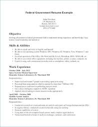 Federal Government Resume Format Adorable Federal Government Resume Template Unique Federal Resume Format