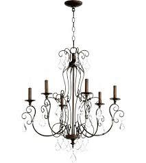 6 light chandelier oil rubbed bronze quorum inch vintage copper