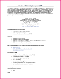training procedure template - examples of resumes resume sample format for  ojt students within