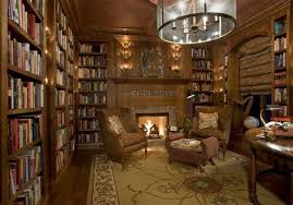 luxury home library design with wonderful chandelier and old english library design white house