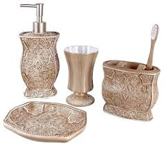 crystal bathroom accessories. luxury bathroom accessories sets black and gold decor crystal crackle glass