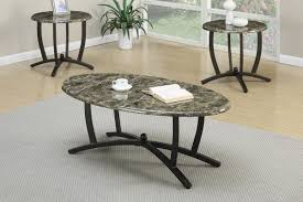 Marble Living Room Table Set Poundex F3103 3 Pcs Multicolor Marble Coffee End Table Set F3103