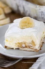 single slice of homemade banana cream pudding on plate