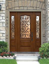wonderful wood front doors with glass and wrought iron 77 about for prepare 1