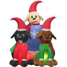 dogs christmas inflatables outdoor christmas decorations the