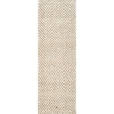 vania chevron jute bleached 3 ft x 8 ft runner rug