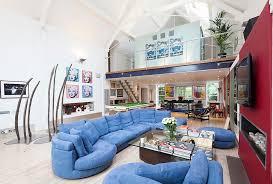 fun use of color in the contemporary open floor plan design domus nova