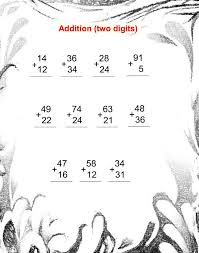 Addition Worksheet For Grade 2 & printables addition with ...