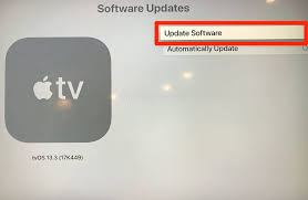 How to update an Apple TV or set up automatic updates