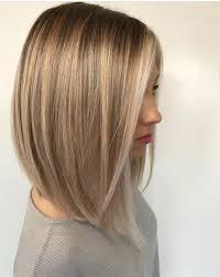 Long Bob Haircut Blonde Hair Color