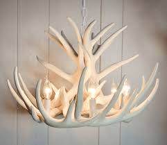 white antler chandelier faux