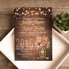 spring flower mason jar string lights rustic invitations ewi416 blue mason jar string lights