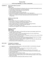 Sales Position Resume Examples Inside Sales Rep Resume Samples Velvet Jobs