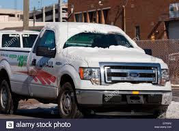 U-Haul pickup truck in winter - USA Stock Photo: 78547226 - Alamy